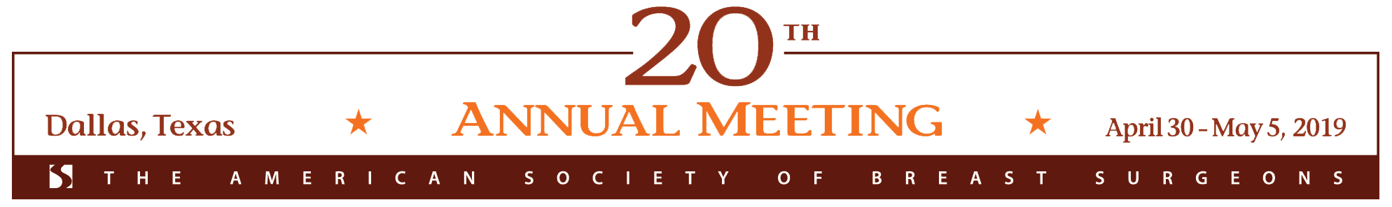 2019 Dallas Meeting Masthead